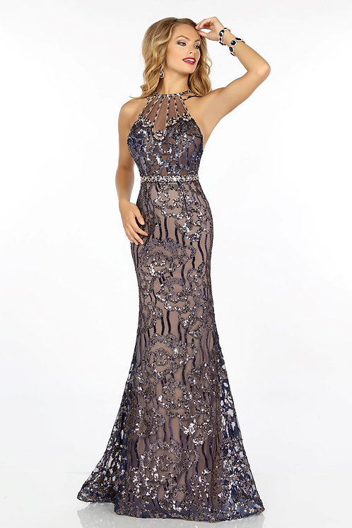 Envious Couture - BEADED SEQUINED TULLE - 18169
