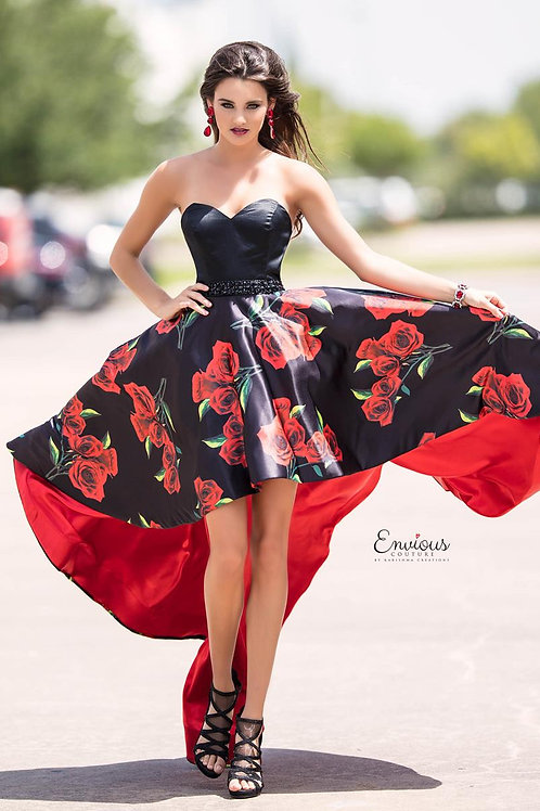 Envious Couture - PRINTED MATTE SATIN   - 18033