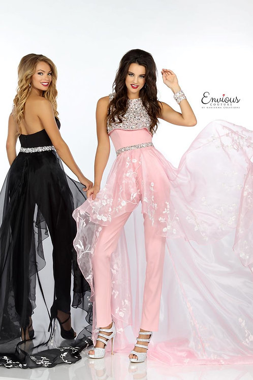 Envious Couture - BEADED EMBROIDERED ORGANZA  - 18162