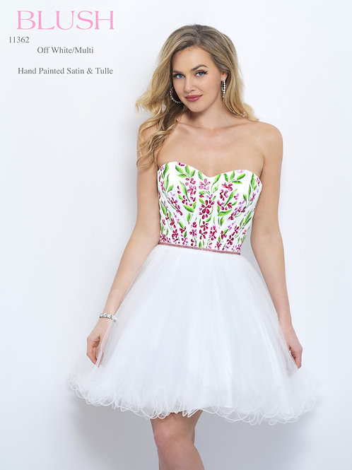 Blush/Hand Painted Satin & Tulle - 11362