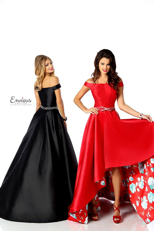 Envious Couture - BEADED PRINTED MIKADO - 18078