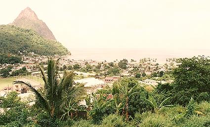 Voyage, Antilles, Sainte Lucie