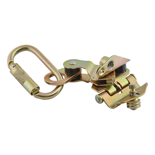 Freno para cuerda 14-16mm con mosquetón de conexión STEELPRO