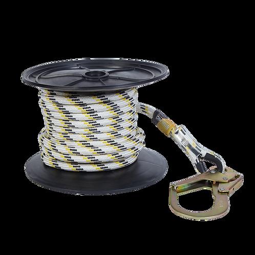 Línea de vida temporal en cuerda de 16mm en KERNMANTLE STEELPRO