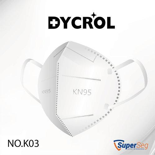 RESPIRADOR KN95 PLEGABLE DYCROL CAJA X12 UNDS