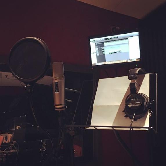 Radio Ad Recording Session