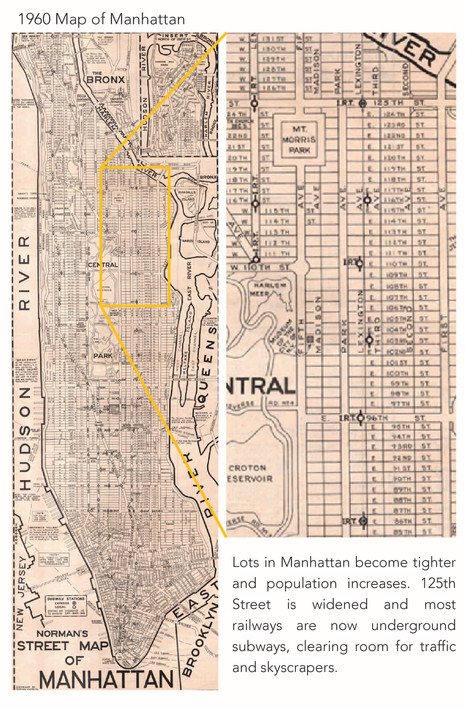 1960 Map of Manhattan