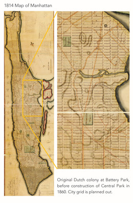 1814 Map of Manhattan