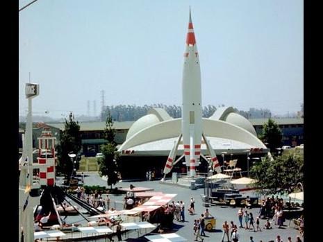 on futurist theme park architecture
