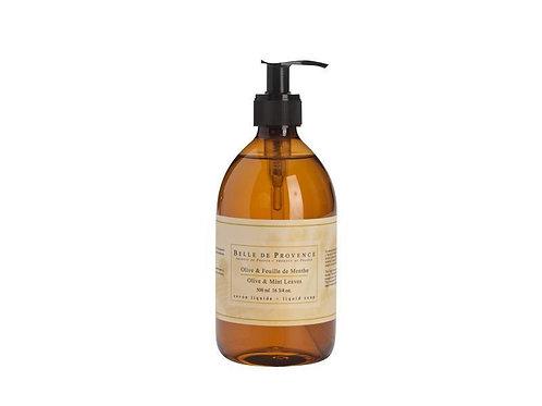 Belle de Provence Olive Oil & Mint Liquid Soap 500ml