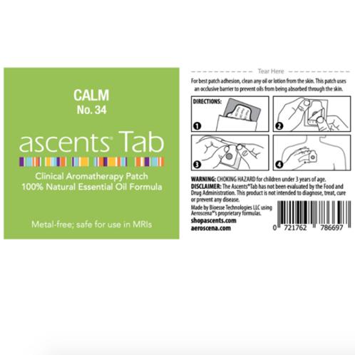 Calm No. 34 Ascents® Essential Oil Patch