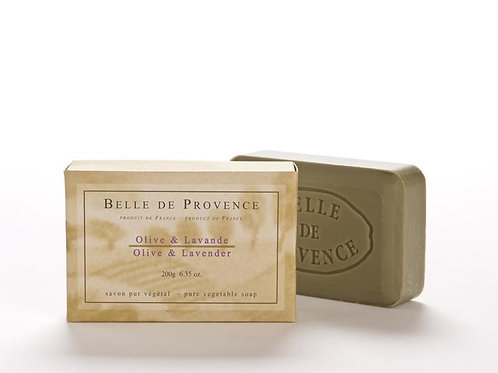 Belle de Provence Olive Oil & Lavender Soap 200g