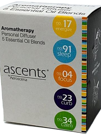 Variety Pack Ascents® Essential Oil Inhalers (5)