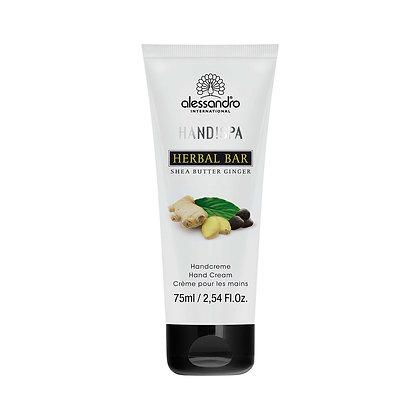 alessandro Herbal Bar Hand Cream Shea Butter/ Ginger - 75 ML