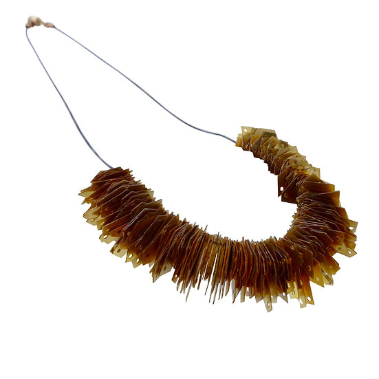 jagged gold arch necklace