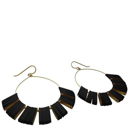 cuervo rays hoop earrings