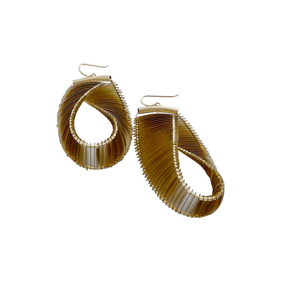 mobius loop earrings