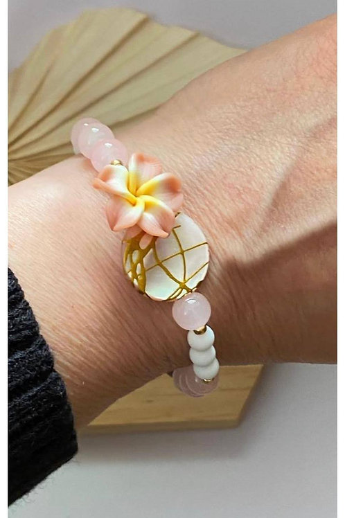 Aloha Armband Muschelperle und Blume