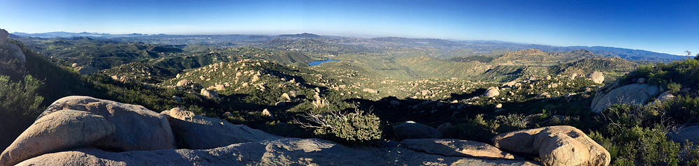 View from the mountain top hike after exploring somewhere outside of San Diego, passing a few goats along the way.