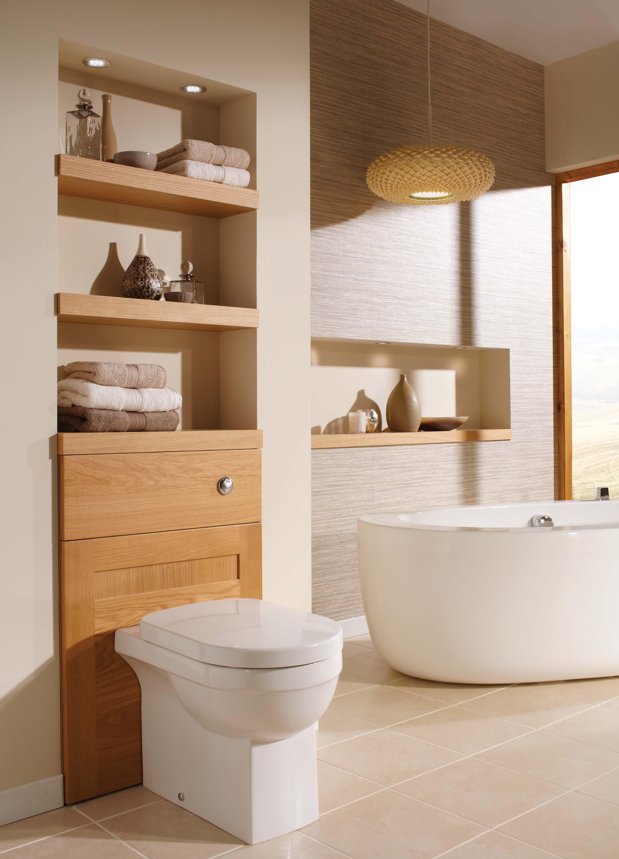 Henley Golden OAk Toilet Unit
