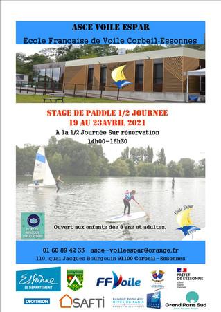 Stage de paddle du 19 au 23 avril 2021