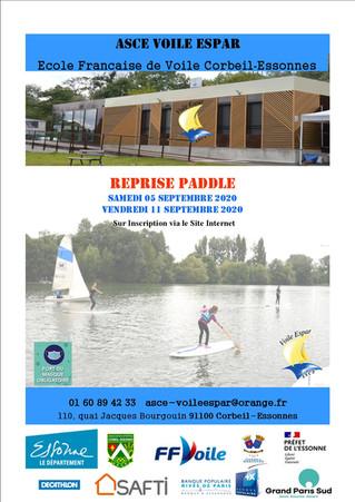 Reprise du Paddle - Septembre 2020