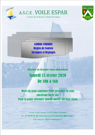 Samedi studieux - 15 février 2020