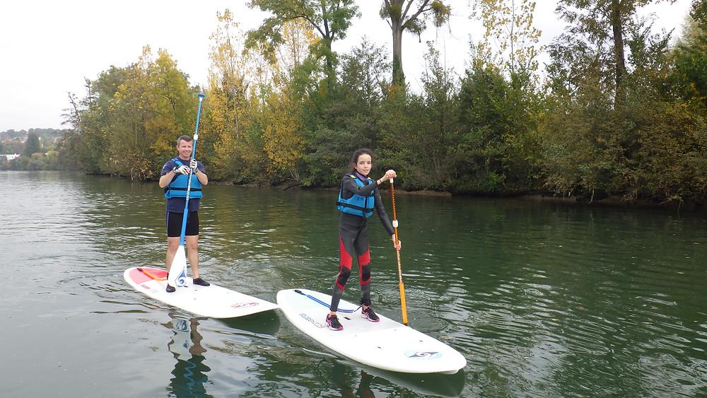 Séance de paddle pour adulte et adolescent
