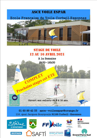 COMPLET - STAGE printemps 2021