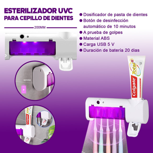 Porta cepillo UV
