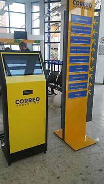 Kiosco metalico Correo Argentino