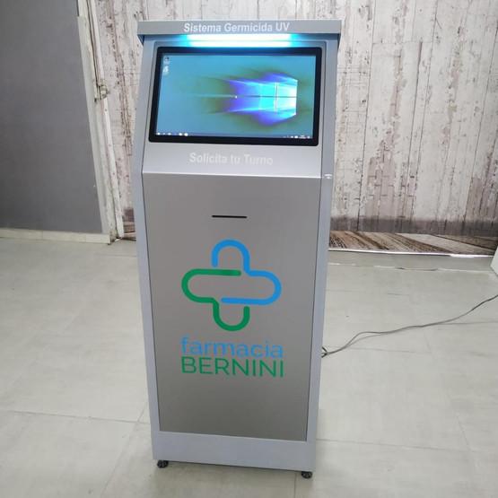 kiosco metalico con sistema germicida UV