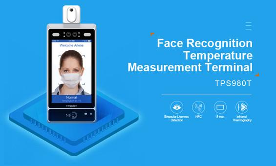 reconocimiento facial y toma de temperatura