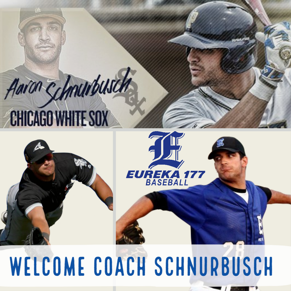 Eureka 177 Baseball  welcomes back former player Aaron Schnurbusch to the coaching staff.  Aaron has