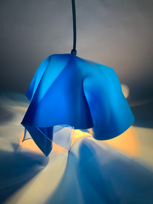 Opaque Blue on Transparent Blue
