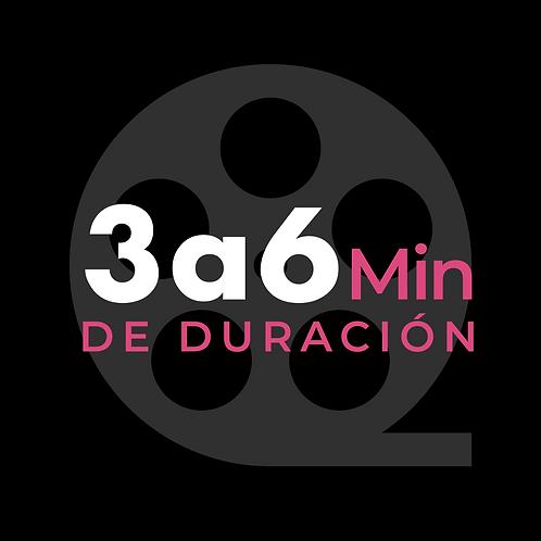 3 a 6 minutos de video
