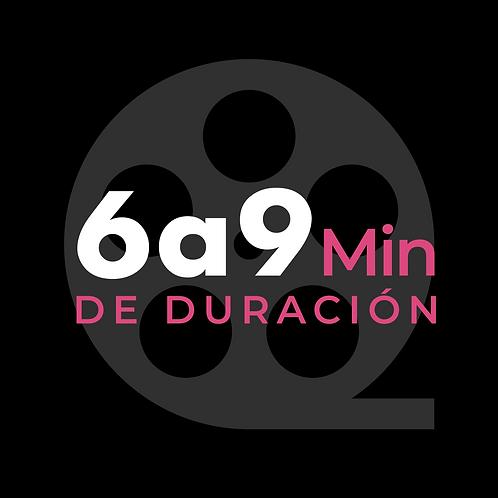 6 a 9 minutos de video