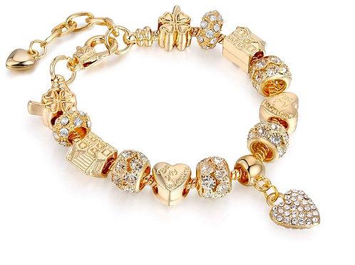 Cyrstal Bella Bling charm bracelet