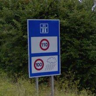 Francia Autopista - limites de velocidad