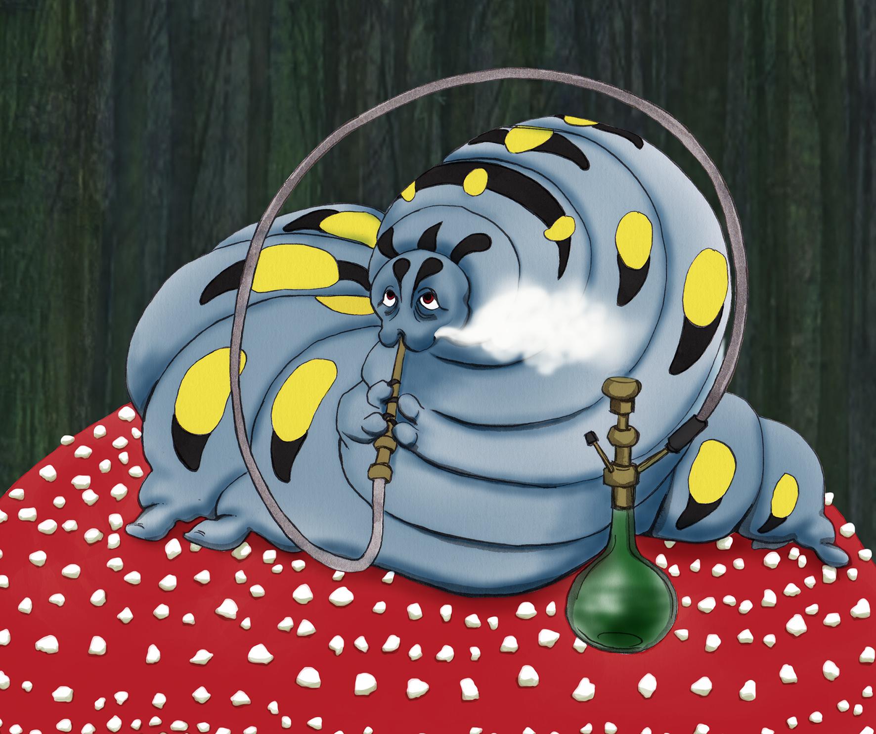 Hookah-Smoking Caterpillar