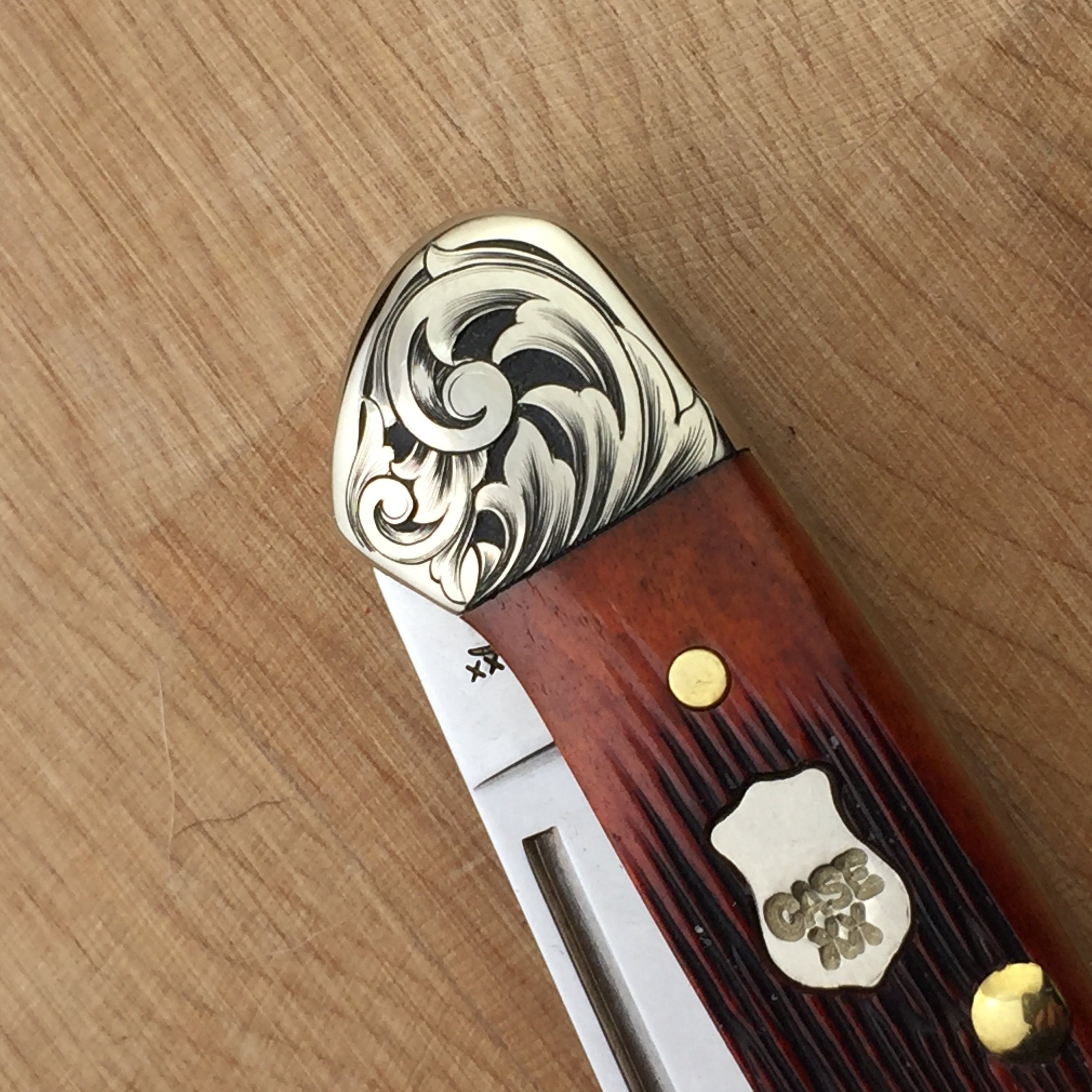 hand engraved Case knife