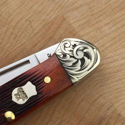 hand engraved Case knife