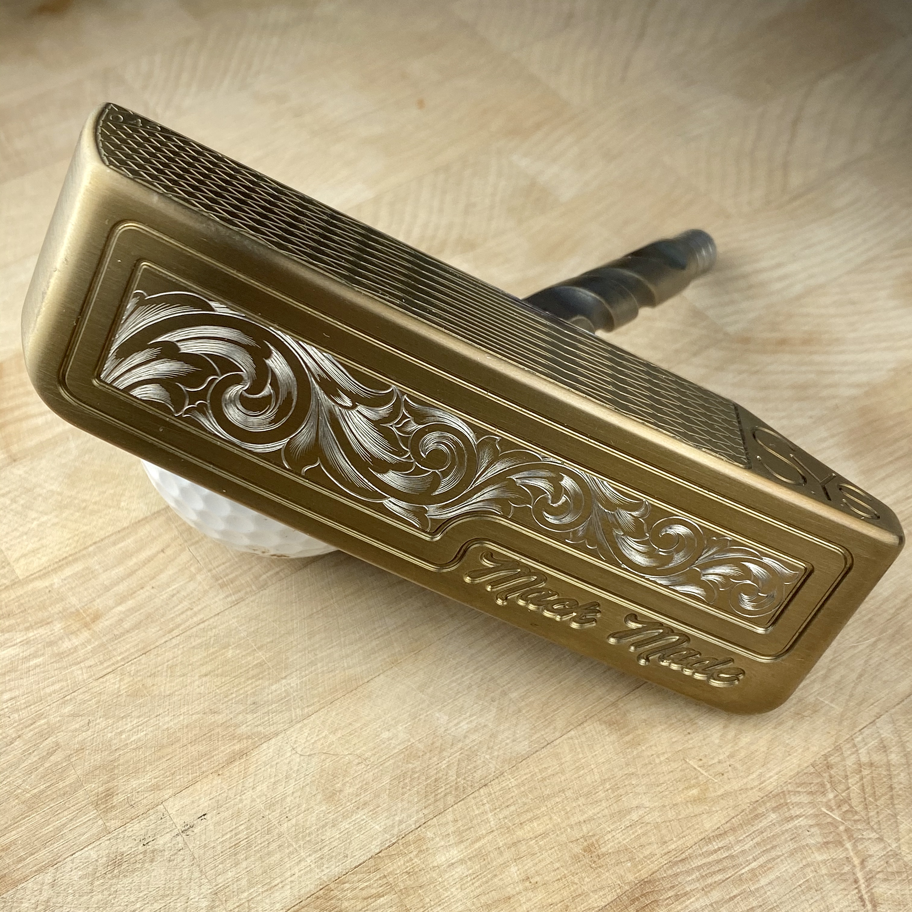 Mack Made putter engraved