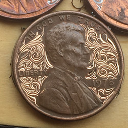 Hand engraved penny