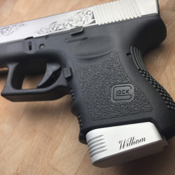 hand engraved mag. extension