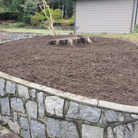 Garden bed cleanup after