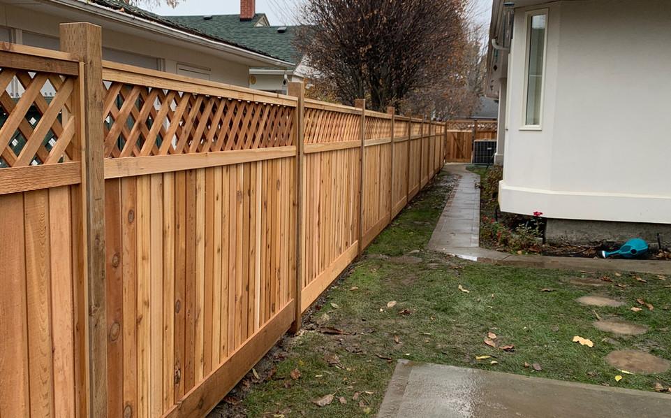 Cedar with lattice