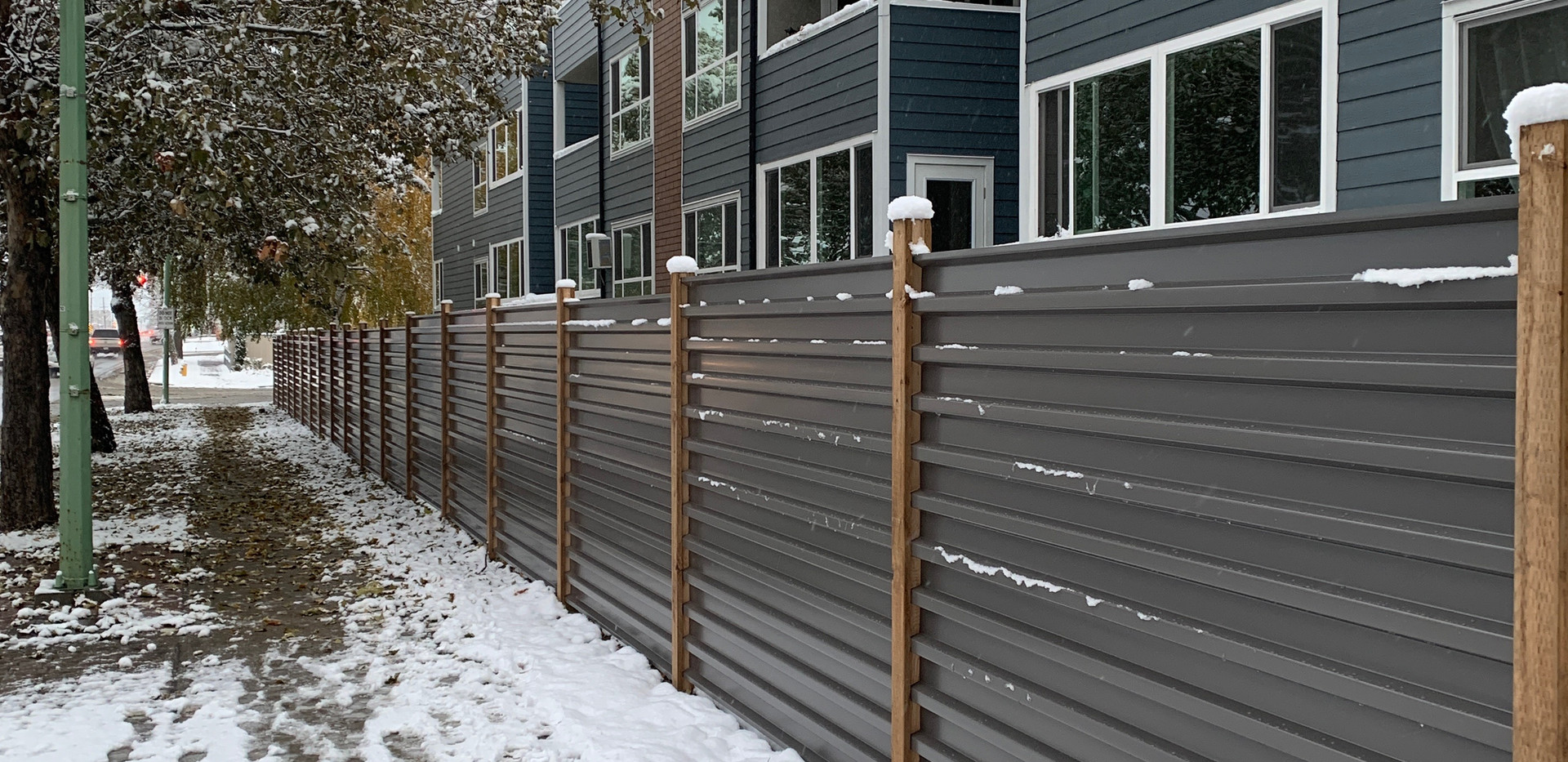 Charcoal grey corrugated