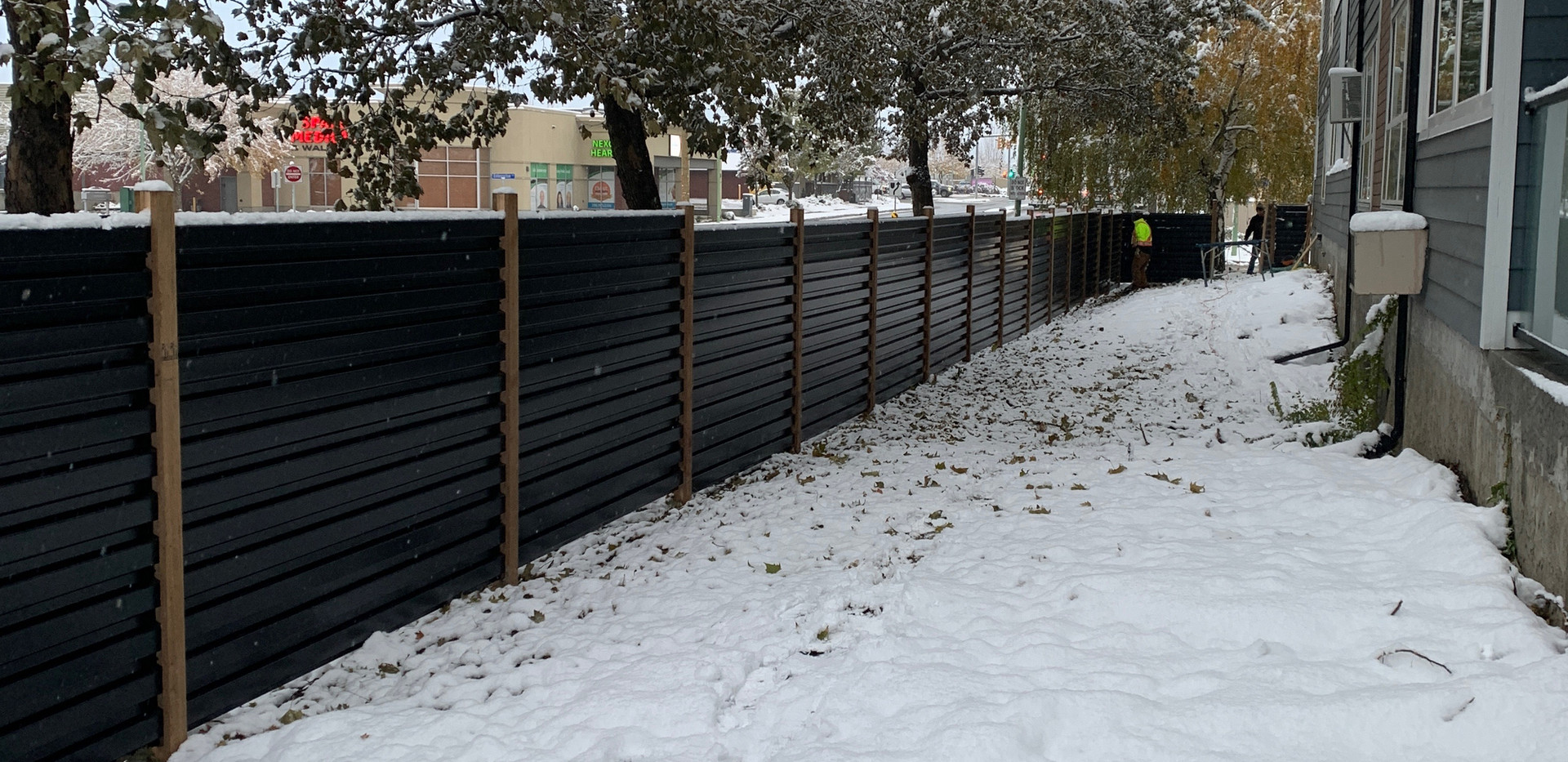 Black corrugated