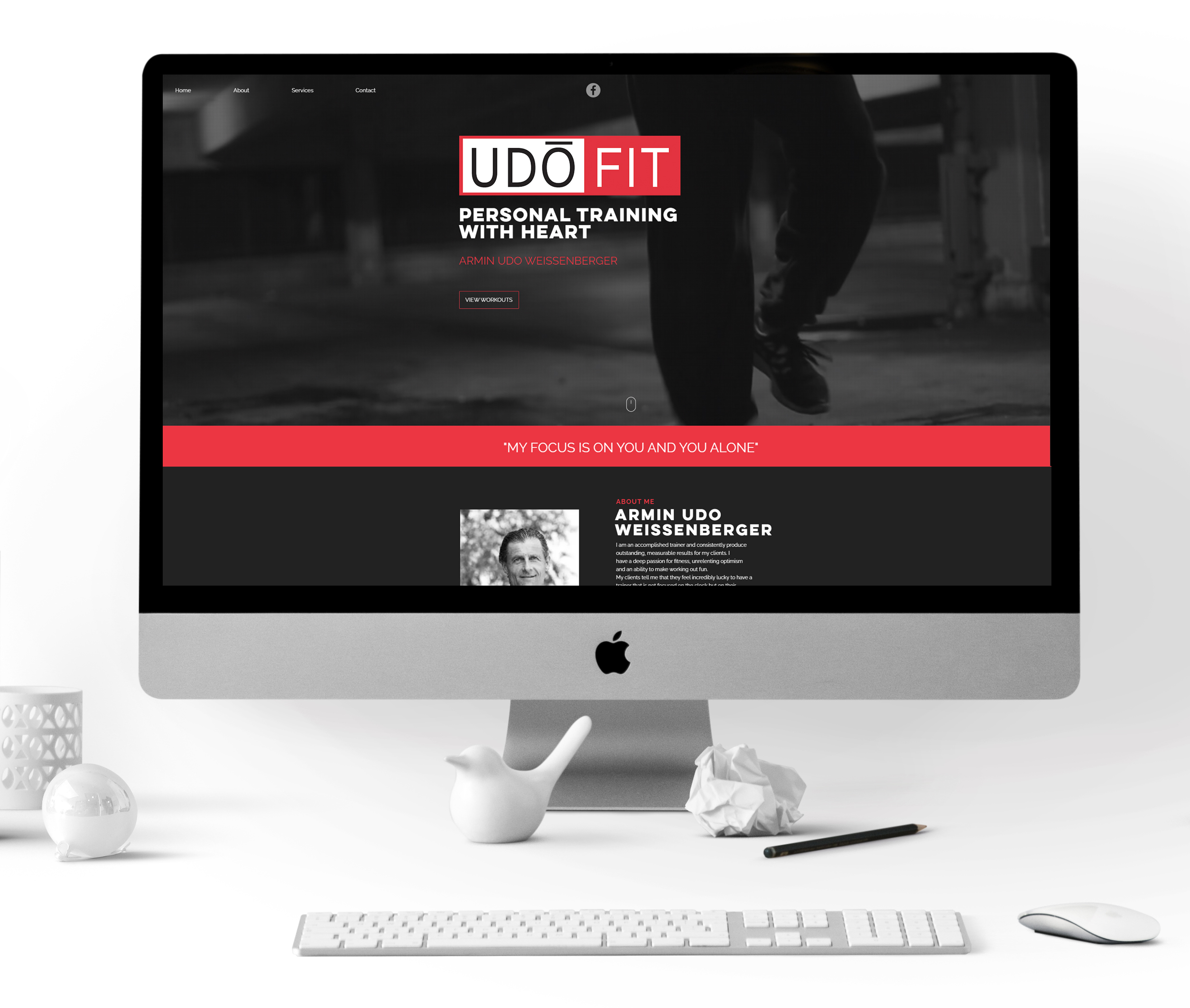 UDO Fit Personal Training website Design